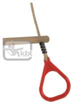 Imaginea Trapez din lemn cu inele din plastic PP10, Rosu, 2,55 m