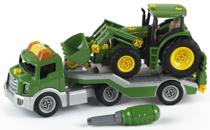 Imaginea Trailer cu tractor John Deere
